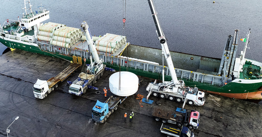 Cargo is being transported as part of Supply Chain Management