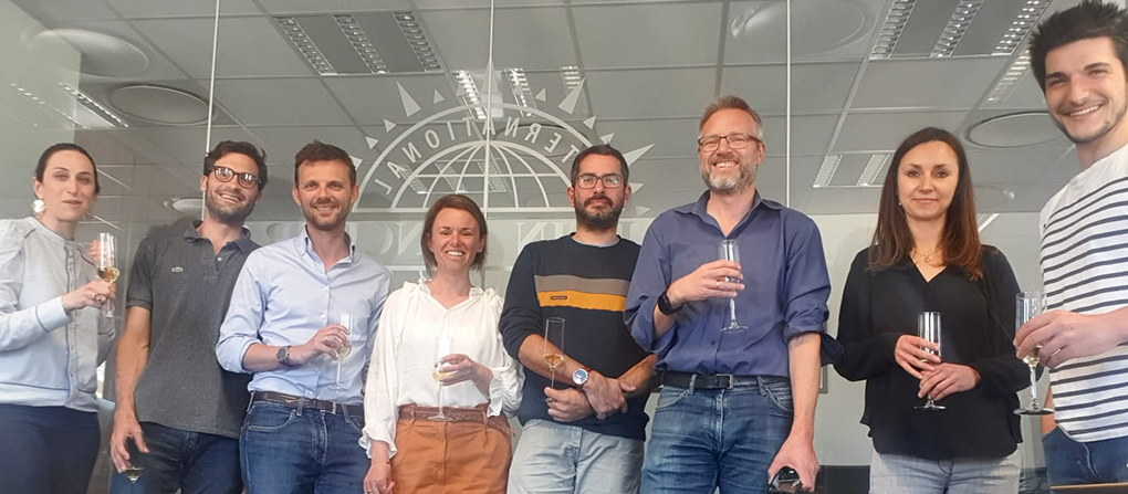 Employees at Martin Bencher, France, celebrates its 10 years anniversary